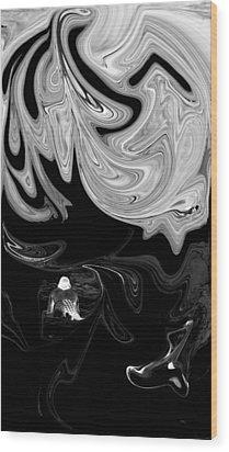 Dangerous Waters Wood Print