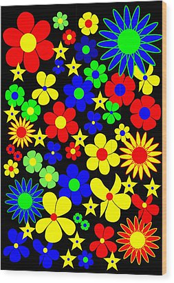 Danish Flowers - Flora Danica Wood Print by Asbjorn Lonvig