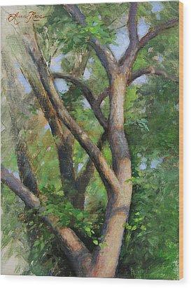 Dappled Woods Wood Print by Anna Rose Bain