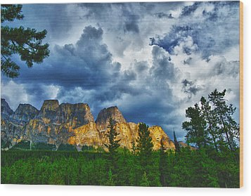 Dark Morning Clouds Wood Print by Rick Bragan