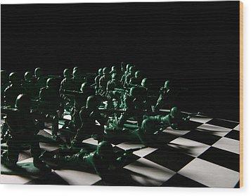 Dark Squares Wood Print by Lon Casler Bixby