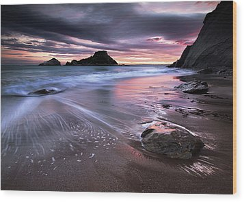 Dark Sunrise On Hidden Bay Wood Print by Danyssphoto