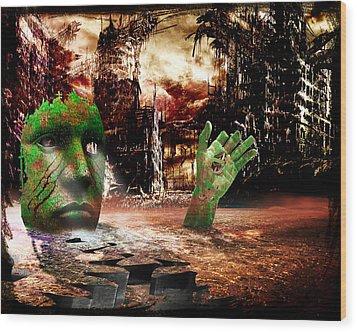 Dark Worlds 2 Wood Print by Wendy White