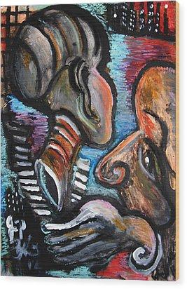 Darkness Dares My Eyes To Close  Wood Print by Jon Baldwin  Art