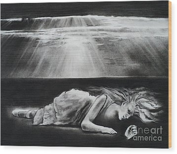 Darkness Falls Upon Me Wood Print by Carla Carson