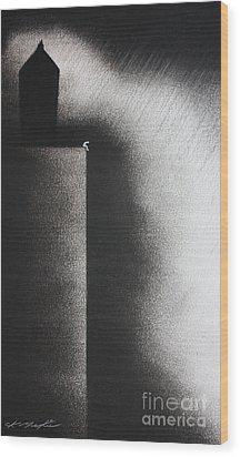 Darkness Shrouds My House Wood Print by Chris Mackie