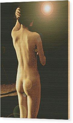 Wood Print featuring the digital art Darkness by Tim Ernst