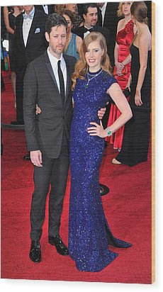 Darren Legallo, Amy Adams At Arrivals Wood Print by Everett