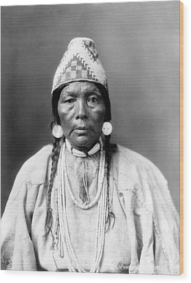 Daughter Of Chief Kamakur, Nez Perc� Wood Print by Everett