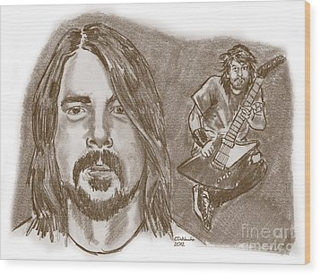 Dave Grohl Wood Print by Chris  DelVecchio