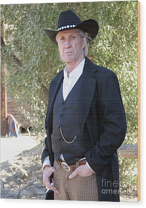 David Carradine Wood Print by Nina Prommer
