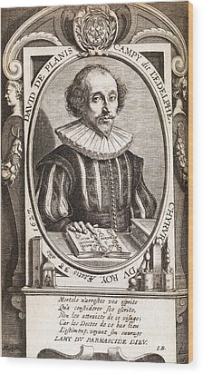 David De Planis Campy, French Alchemist Wood Print by Middle Temple Library