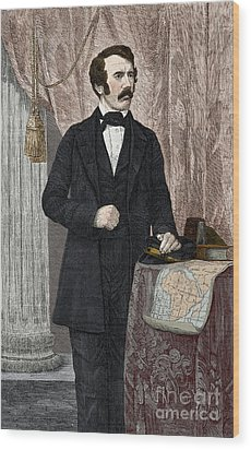 David Livingstone, Scottish Missionary Wood Print by New York Public Library