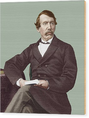 David Livingstone, Scottish Missionary Wood Print by Sheila Terry