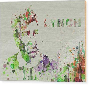 David Lynch Wood Print by Naxart Studio