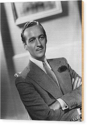 David Niven, Ca. Late 1930s Wood Print by Everett