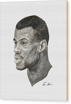 David Robinson Wood Print by Tamir Barkan