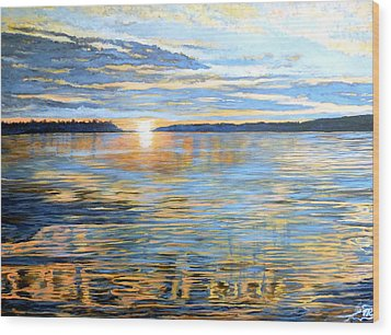 Wood Print featuring the painting Davidson Quebec by Tom Roderick