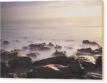 Dawn At Sea Wood Print by Svetlana Sewell