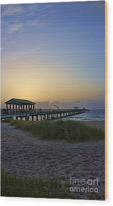 Dawn Is The Time Wood Print by Anne Rodkin