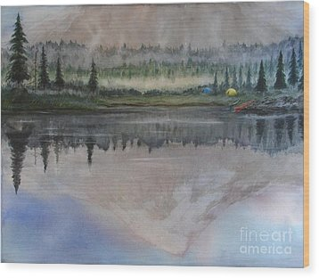 Dawn Reflections Wood Print