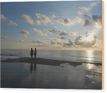 Wood Print featuring the photograph Dawn by Sheila Silverstein
