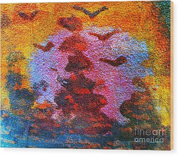 Day Time Is Here Wood Print by Fania Simon