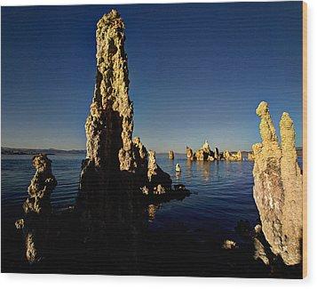 Daybreak On Mono Lake Wood Print by Joe Schofield
