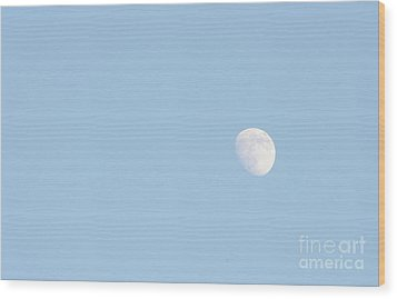 Wood Print featuring the photograph Daylight Moon by Michael Waters