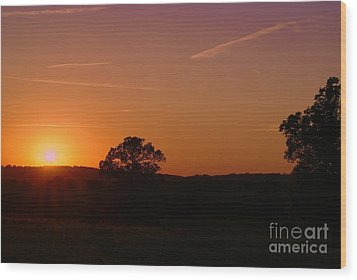 Wood Print featuring the photograph Day's Final Rays by Julie Clements