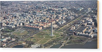Dc From Above Wood Print by JC Findley