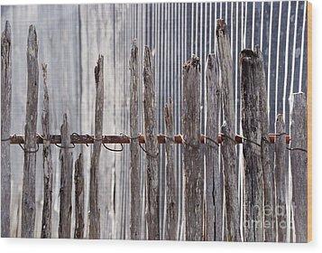 De-fence Wood Print