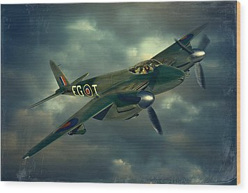 De Haviland Mosquito Wood Print