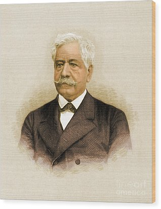 De Lesseps, French Diplomat, Suez Canal Wood Print by Science Source