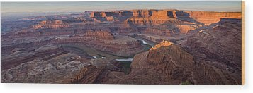 Dead Horse Point Panorama Wood Print by Andrew Soundarajan