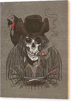 Dead Man Wood Print by Michael Myers