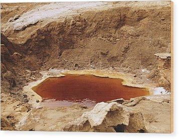 Dead Sea Sinkhole Wood Print by Photostock-israel