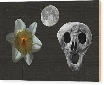 Death And The Daffodil  Wood Print by Eric Kempson