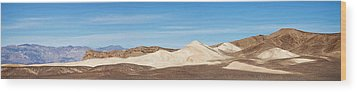 Wood Print featuring the photograph Death Valley Mountain Panorama by Mike Irwin