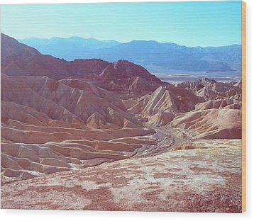 Death Valley Mountains 2 Wood Print