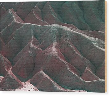 Death Valley Mountains 3 Wood Print