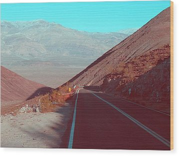 Death Valley Road 3 Wood Print