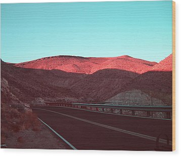 Death Valley Road 4 Wood Print