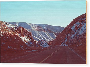 Death Valley Road Wood Print