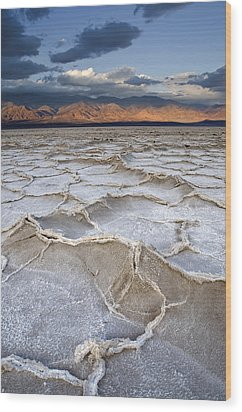 Wood Print featuring the photograph Death Valley Sunrise by Mike Irwin