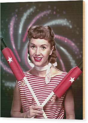Debbie Reynolds, 1950s Wood Print by Everett