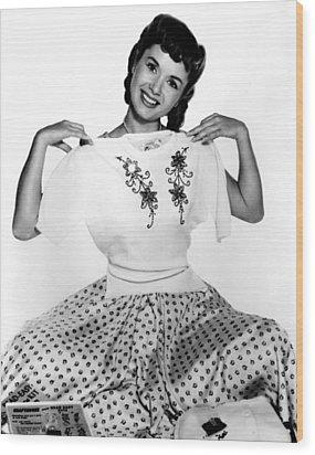 Debbie Reynolds, Portrait, Ca. 1950s Wood Print by Everett