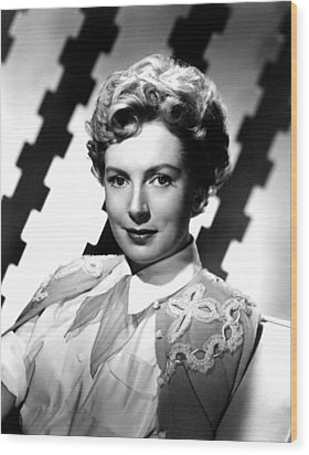 Deborah Kerr, Portrait, Ca. 1950s Wood Print by Everett