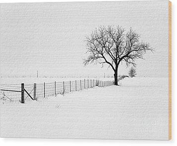 December Wood Print