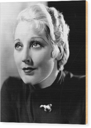 Deception, Thelma Todd, 1932 Wood Print by Everett